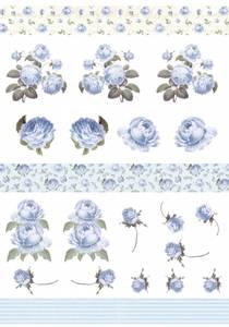 Bilde av Reprint -  A4 Klippeark - KP0084 - Blue Rose Romance - Cutouts
