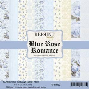 Bilde av Reprint - 8x8 - RPM023 - Blue Rose Romance paper pack