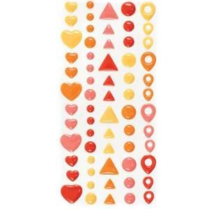 Bilde av We R Memory Keepers - Enamel Dots & Shapes Stickers - Warm