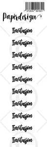 Bilde av Papirdesign - Transparent Stickers - 1900182 - Invitasjon, sort